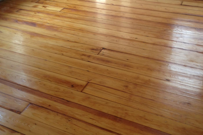 Refinished Old Pine Floor 2 - After