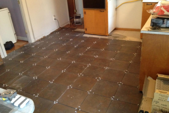 Ace Wood Flooring Warwick RI Porcelain Tile- Before